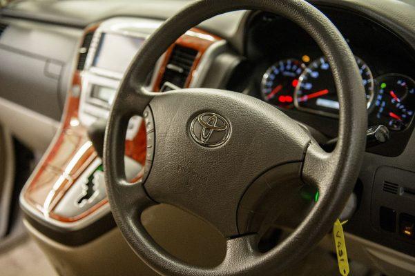 Inside Toyota Alphard Campervan