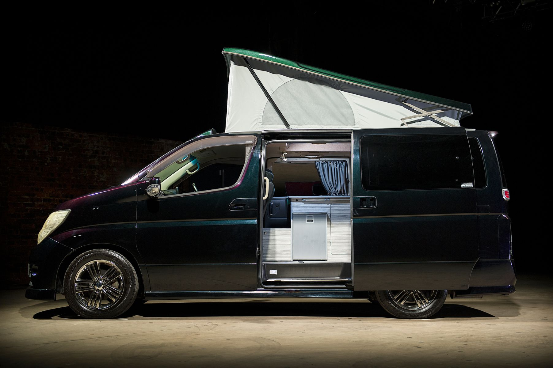 The Velocity - Nissan Elgrand - Black Campervan