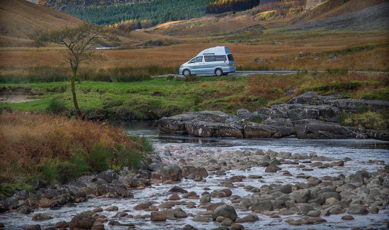 Blue Toyota Alphard Campervan - Eco Camper