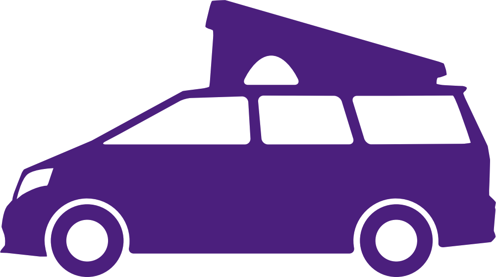 Camper car icon